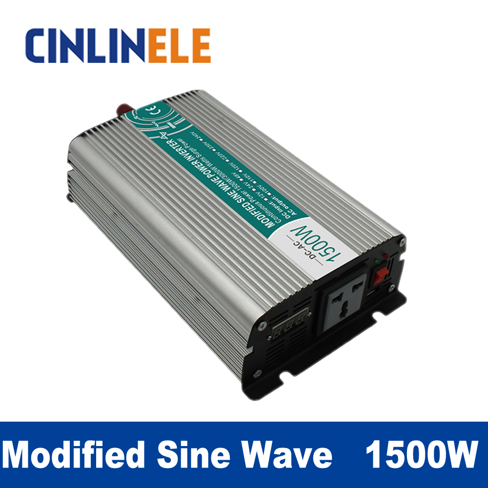 Modified Sine Wave Inverter 1500W CLM1500A DC 12V 24V 48V to AC110V AC220V  1500W Surge Power 3000W Power Inverter газонокосилка электрическая prorab clm 1500