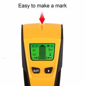 Image 5 - Detector de Metales 3 en 1 de Floureon, escáner de pared de cable vivo de voltaje CA, Detector de caja eléctrica portátil de Metal con pasador de madera