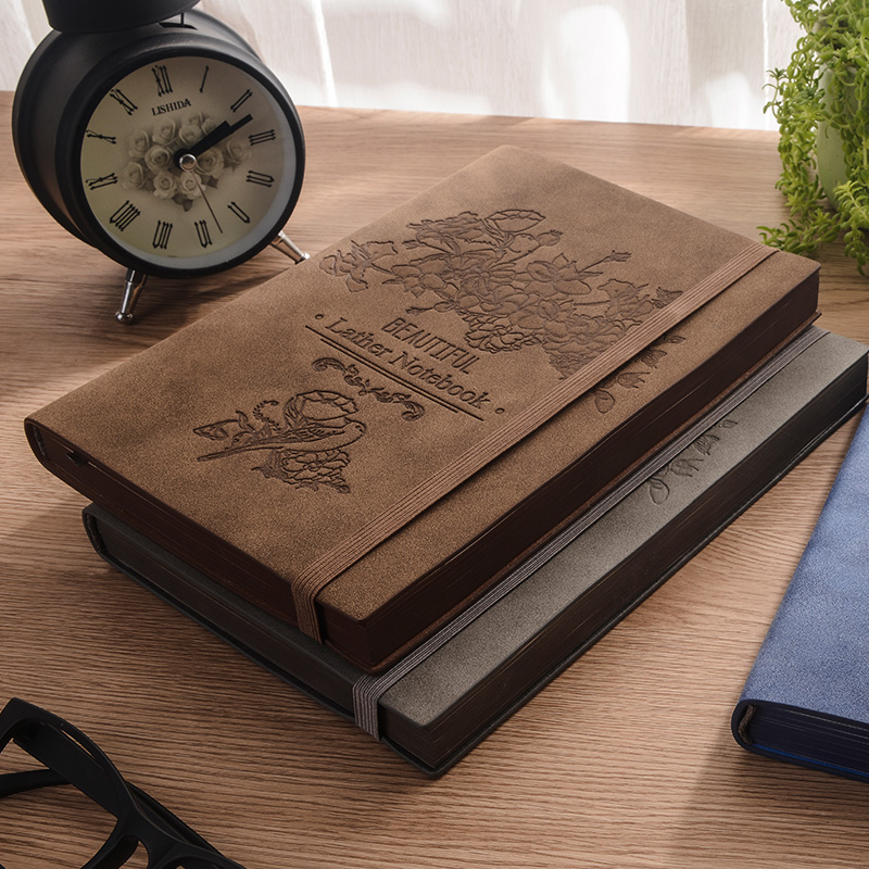 2019 Rerro Sheepskin Book Planner Business Notebook Meeting Minutes Book Diary Office Stationery A5 deli 3164 notebook business meeting diary book with a gel pen black leather stationery thick notebook