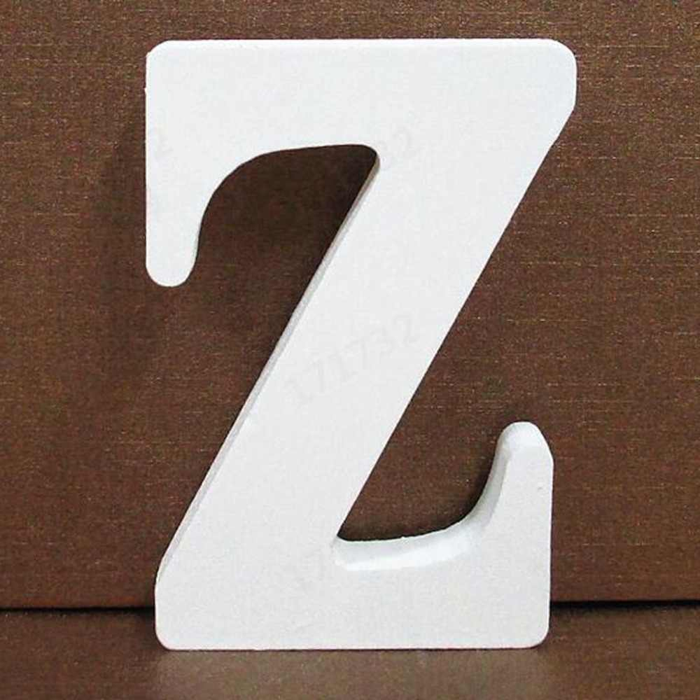 1pc White Wooden Letter English Alphabet DIY Personalised