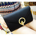 Newest White Black Leather large Clutch Envelope Bag Chain Women shoulder bag candy Messenger Soiree Purse Prom Evening Bag 8803