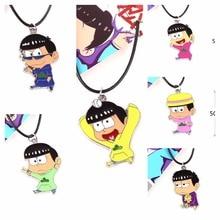 Cartoon toy Osomatsu san /osomatsu kun Zinc alloy PU necklace pendant Cloud pattern accessory decoration Anime collectible gift
