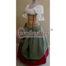 Manta escocesa donzela fancy dress adulto mulheres dance party cosplay custom made d0702