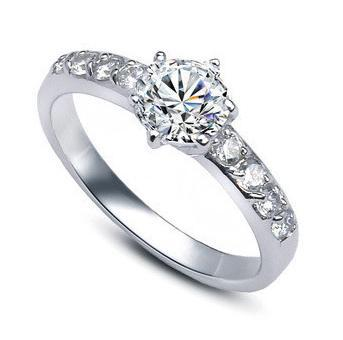 2016 new arrival hot sell ladies wedding rings 925 sterling silver big zircon finger ring jewelry - Ladies Wedding Rings
