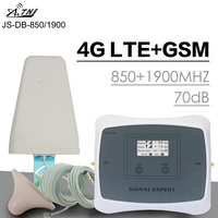 ATNJ 3G Cellular Signal Booster G 3G CDMA 850 PCS 1900 MHz Power70dB Gain Moblie Phone Signal Amplifier GSM Repeater B5 B2 LCD