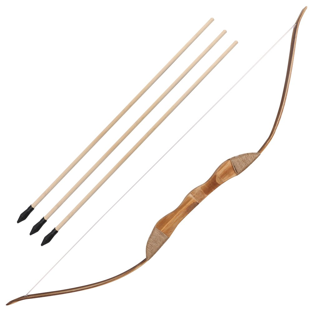 Archery Wooden Bow And Arrows Left Handed With Quiver Tube Gift For Kids
