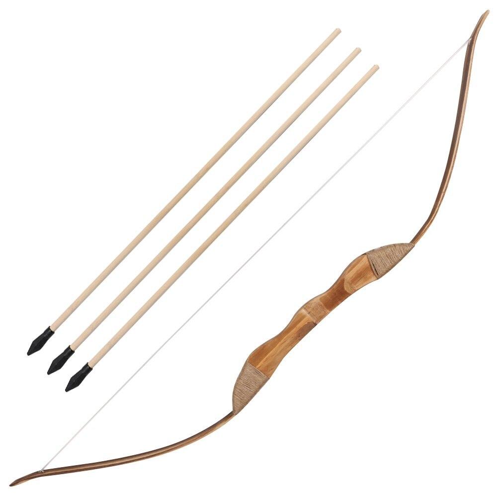 arco e flecha de madeira e setas canhoto com tubo quiver presente para criancas