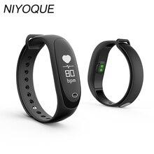Niyoque Bluetooth Smart Band E26 монитор сердечного ритма и монитор артериального давления и podemeter сна/шаг/сигнал тревоги IP67 Водонепроницаемый band