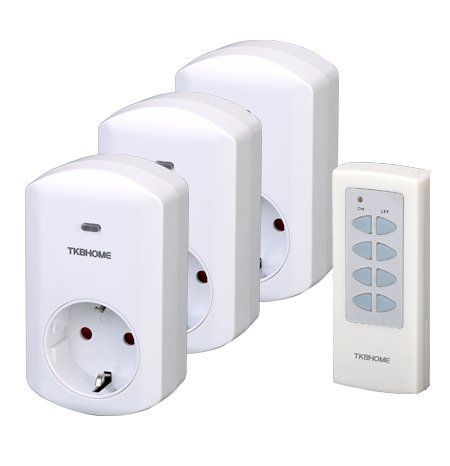 3pcs/lot RF remote control socket 3 pack ( 3x German plug+ 1x controller)