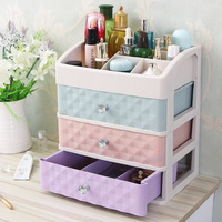 Big Size Plastic Cosmetic Drawer Makeup Organizer Makeup Storage Box Container Nail Casket Holder Desktop Sundry Storage Case