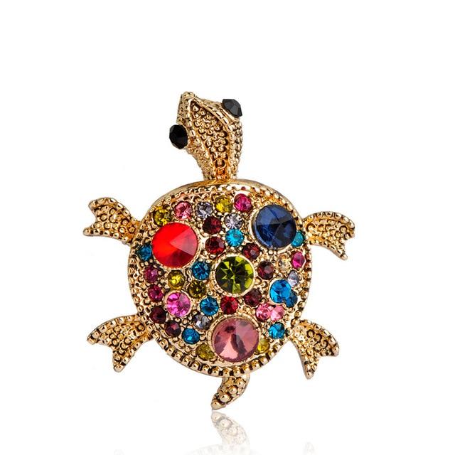 Fashion Jewelry Crystal Turtle Broches High-Grade Unisex Tortoise Brooch  Animal Corsage Bouquet Bijuterias Hijab 48762fe916a6