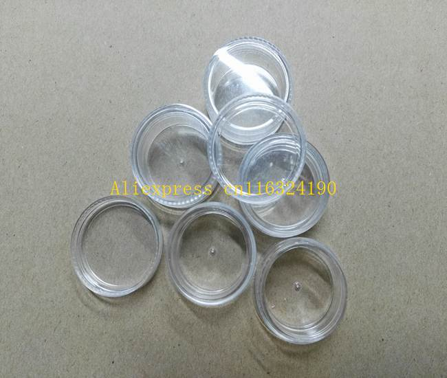 5000pcs lot Fast shipping 5g Nail Art Glitter Dust Powder Empty Case Clear Pots Bottle Container