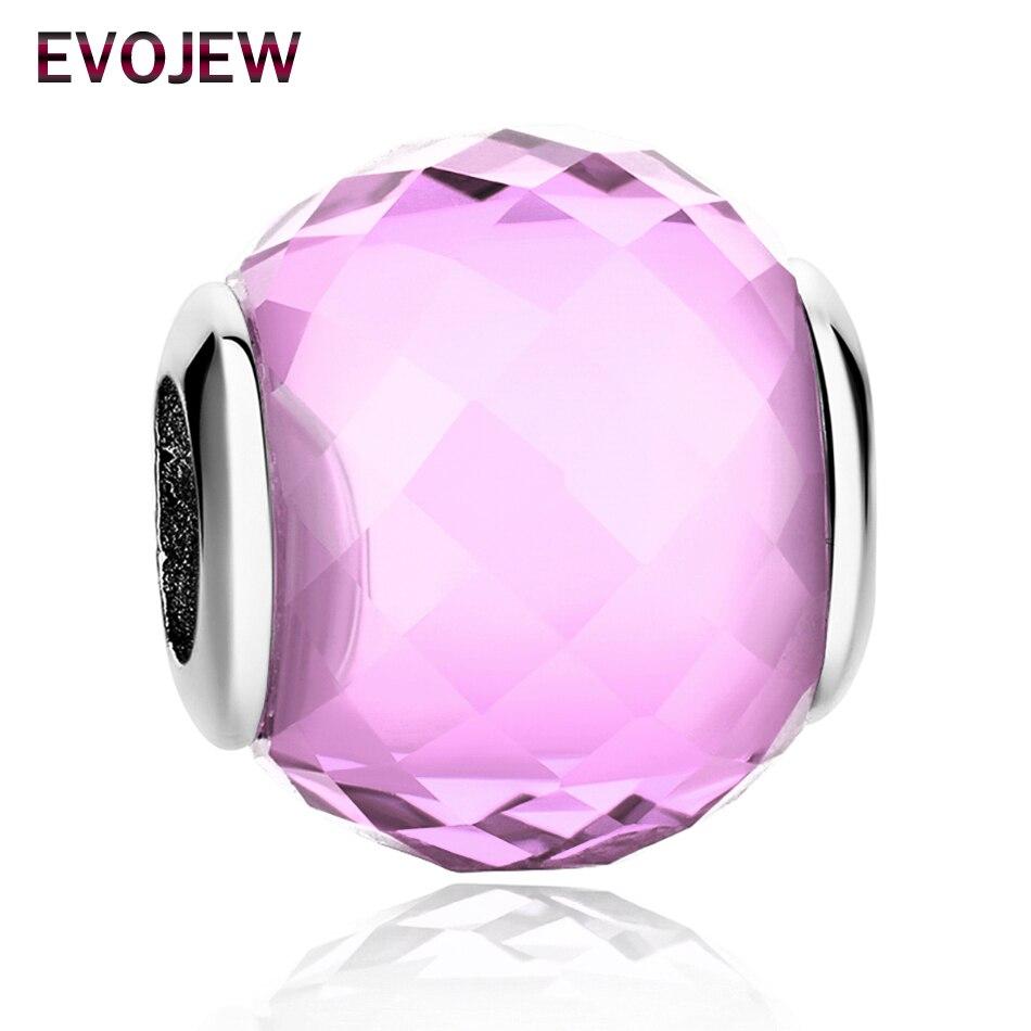 EVOJEW 100% Real 925 Sterling Silver Essence Murano Glass Beads Fit Original pandora Charm Bracelet Authentic S925 Jewelry Gift