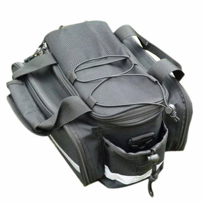 Új vízálló kerékpáros kerékpár táska Kerékpár hátsó üléscsomagtartó táska Kézitáska hátsó kerékpántok Fekete Ingyenes szállítás