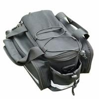 New Waterproof Cycling Bicycle bag Bike Rear Seat Trunk Bag Handbag rear bike panniers Black Free Shipping