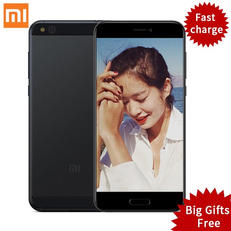 """New Arrival Original Xiaomi Mi5c Mi 5C Mobile Phones Pinecone S1 Octa Core 9V 2A 3GB RAM 64GB ROM 5.15"""" MIUI 8 Fingerprint ID"""