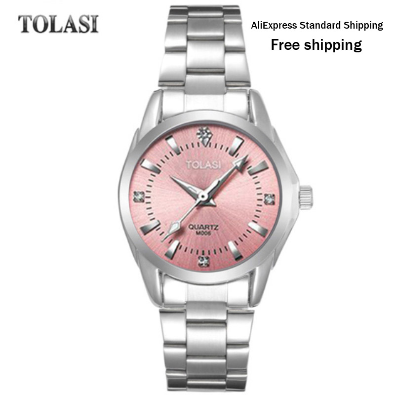 2017 new TOLASI brand watch quartz fashion bracelet watch waterproof Watch Luxury Diamond simple gift clock