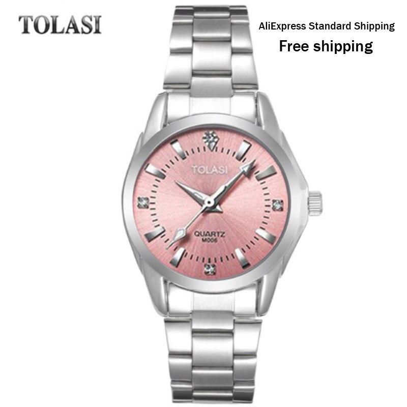 921cad3c697 ... Relógio de Quartzo 2017 Nova Tolasi Marca Pulseira da Moda Assistir à  Prova d  Água Relógio de Diamantes Luxo Simples Presente Mulheres Meninas  Relógios ...