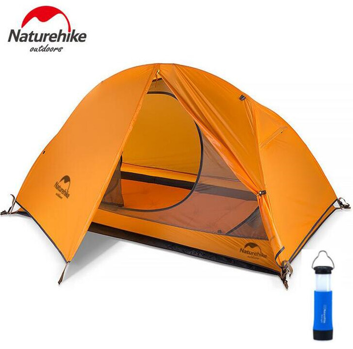 Здесь продается  Naturehike 1.3KG Ultralight Tent 20D Silicone Fabric 1 Person Double Layers Aluminum Rod Travelling Hiking Camping Tent House  Спорт и развлечения