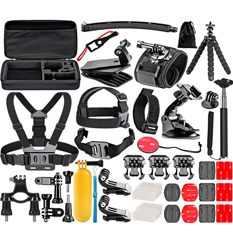 Action Camera Accessory Kit for sjcam SJ4000 <font><b>5000</b></font> for gopro hero <font><b>7</b></font> 6 5 <font><b>4</b></font> 3 kit mount for Eken / SOOCOO / Yi Sports Camera set image
