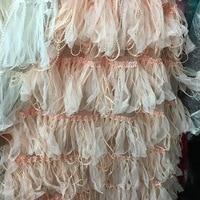 2017 New Tassel Net Lace Fabric Women Dress Clothing Material Diy Home Decor Cushion