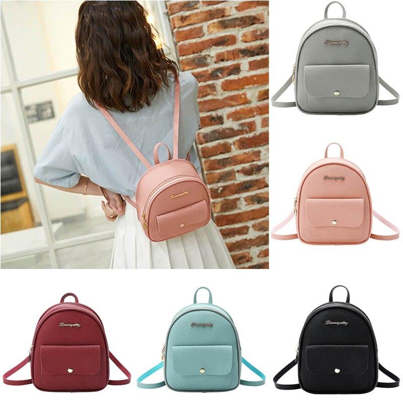 Women Mini Backpack Litchi Pattern Large Capacity Single Shoulder Bag for School Travel LT88Women Mini Backpack Litchi Pattern Large Capacity Single Shoulder Bag for School Travel LT88