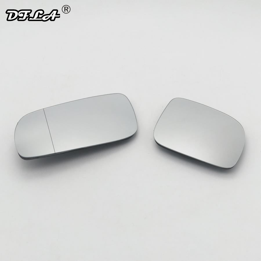 Left side Clip Heated Wide Angle wing mirror glass for Volkswagen Polo 09-17