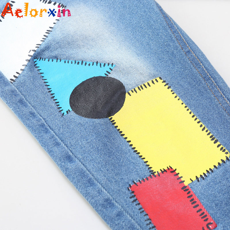 Girls Denim Pants Summer Children Jeans Pants Leggings Baby Patchwork - Children's Clothing - Photo 4