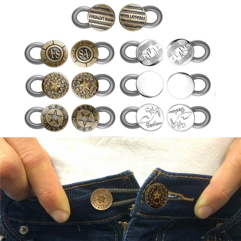 Cosmos Antique Brass Metal No Sew Button Pants Fix Extender Men Jeans Waist Stretch Extender Metal Button Lock