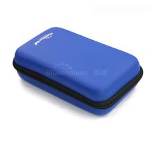 Czarny niebieski dysk twardy torby do przenoszenia torby SSD dysk twardy protect etui do MP3 MP4 słuchawki obudowa cyfrowy chronione anti-shock dysk twardy torby tanie tanio Niekończące się PU Skóra czarny niebieski 162*98*42mm shockproof hdd bag press resistant hdd bag fall proof hdd case box