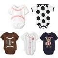 Roupas Esportivas Menino Corpo Do Bebê Recém-nascido recém-nascidos Roupas Roupas de Bebê Bodysuit Bebe Menino Esportivos Roupas de Verão de Manga Curta Infantil