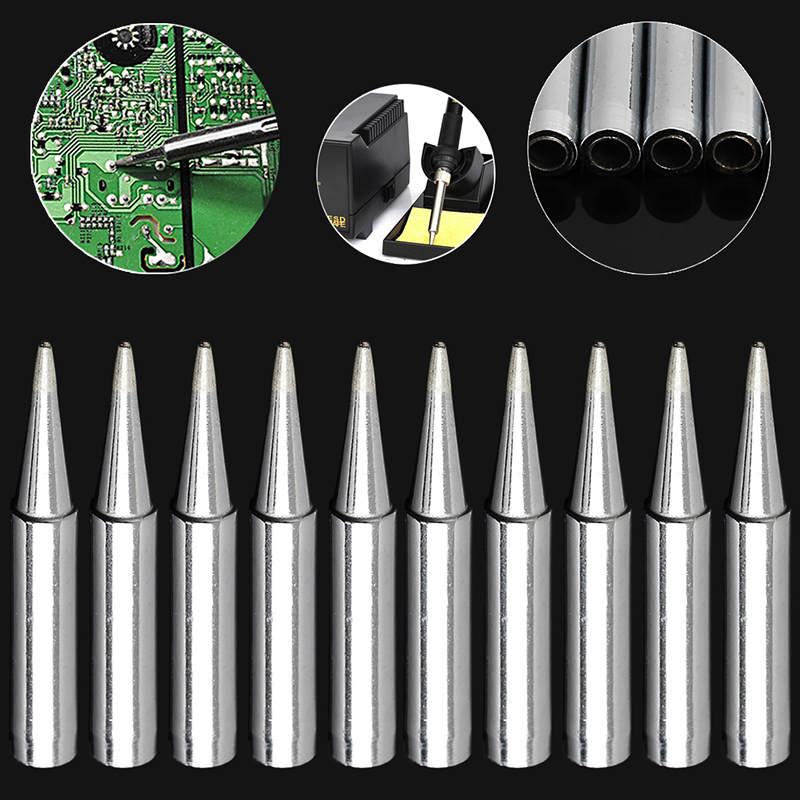 New 10Pcs 900M-T-B Lead-free Solder Iron Tips for Hakko Soldering Rework Station
