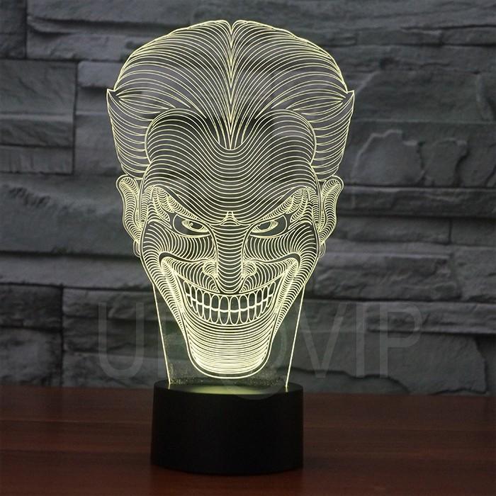 JC-2832  Amazing 3D Illusion led Table  Lamp Night Light with joker shape   (4)