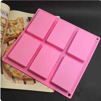 wholesale 100pcs/sets 6 lattice rectangular pastry molds 100ml silicone cake bakeware mold soap moulds - DISCOUNT ITEM  0% OFF All Category
