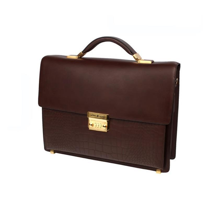 L# s briefcases locks imported high-end handbags a first layer of leather king s end of watch