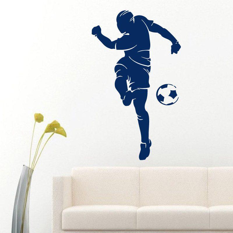 football player sticker sports soccer decal helmets girl kids room