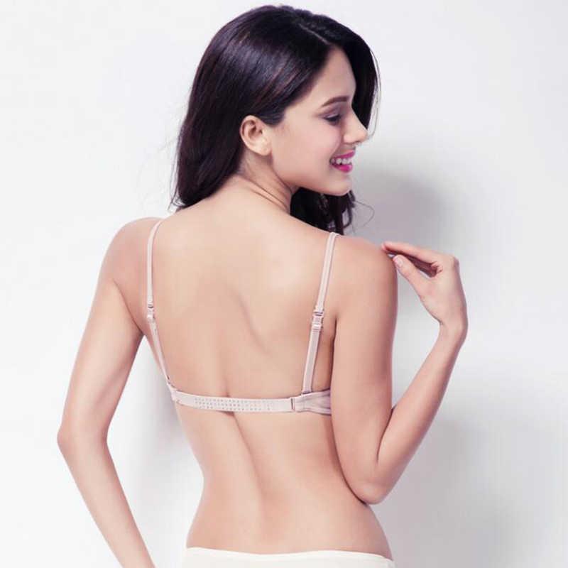 d03d8869e ... New Fashion Deep Plunge U Women Bras Sexy Seamless blackless Adjustable  Convertible Straps Khaki Black