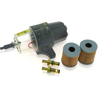 UF 10K Fuel Filter / Water Separator Assembly Clear Bowl FOR OUTBOARD MOTOR with 2 filter elements