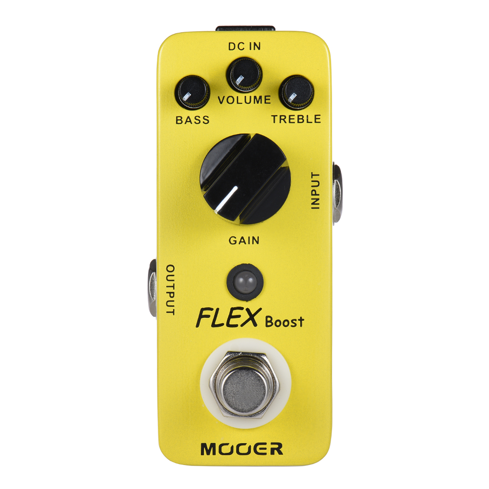 Mooer Full Metal Shell Effects Wide Gain Range Flex Boost Guitar Effect Pedal True Bypass mooer blade boost guitar effect pedal electric guitar effects true bypass with free connector and footswitch topper