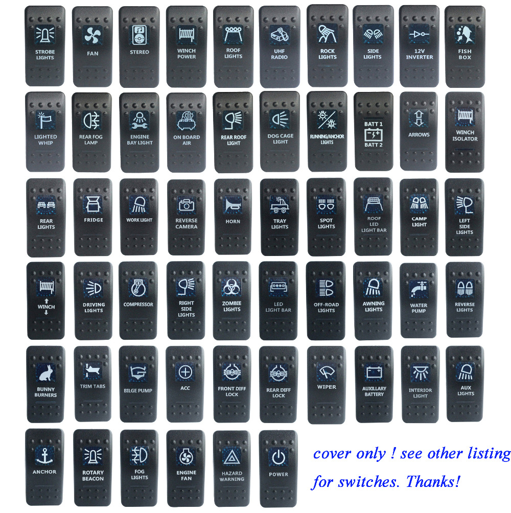 Blue 12V INVERTER 5P ON//OFF Rocker Switch for NARVA Carling ARB style replace