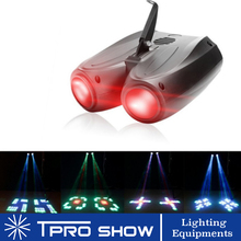 DJ Party Disco Light LED Double Head Airship Moonflower Light Auto Music Activated Mini Gobo Projector For Home Entertainment