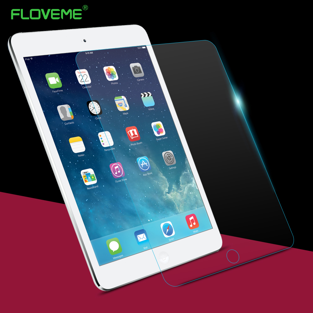 FLOVEME for iPad 2 3 4 Tempered glass screen protector for ipad 2 ipad 3 ipad 4 9.7 inch with retail package box protective film original homtom ht3 pro package gift tempered glass film protective cover