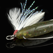 50pcs/lot LUSHAZER Free shipping lure Gtbio metal lure feather bulk feather fishing lure supplies Fishing Accessories