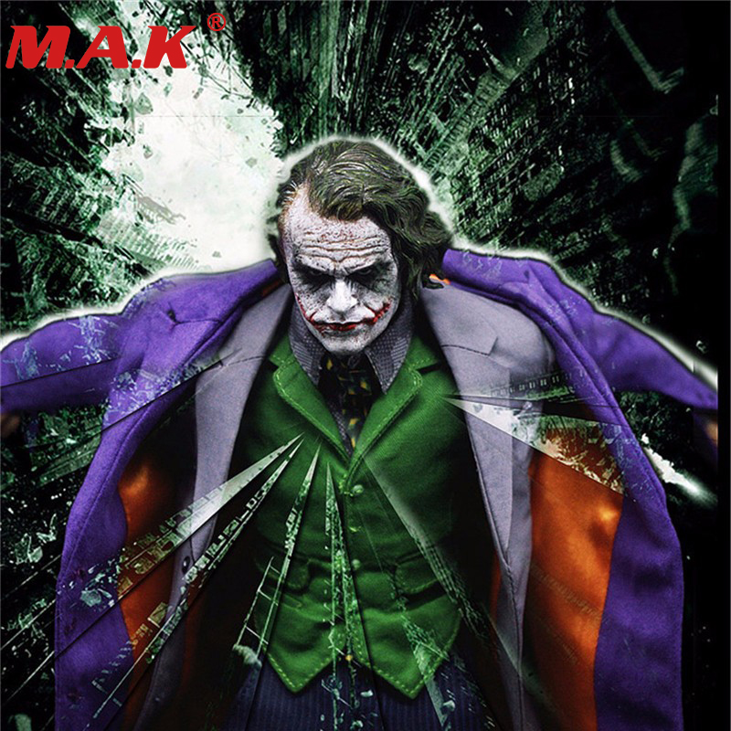 1/6 joker the dark Knig Batman Villain purple clothes sets models for 12 inches male man action figure toys without head & body 1 6 scale batman the dark night joker the j bank robber suits clothes clothing fit for 12 male man action figure accessory