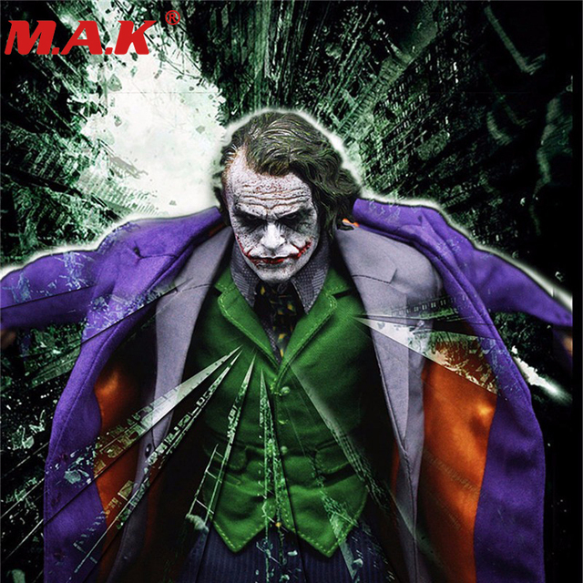 1 6 joker the dark knig batman villain purple clothes sets models