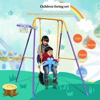 Strong Metal Bracket Baby Swing House Kindergarten Outdoor Toys Rocking Chair with basketball basket