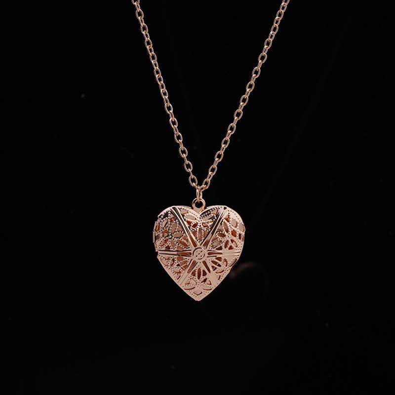 Collares con colgante de corazón hueco N830, joyería de amor, colgante geométrico, bisutería, novedad de 2018