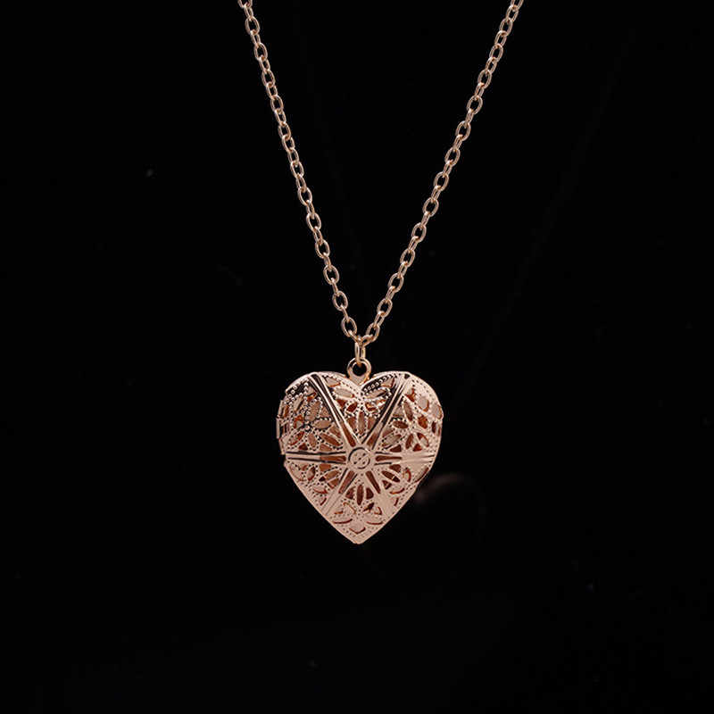 N830 الجوف القلب قلادة القلائد مجوهرات الأزياء الحب Collares هندسية حلية قلادة بيجو جديد وصول 2018