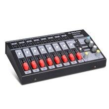 G MARK 8 canaux Mini console de mixage portable audio système de son Mono/stéréo étendu pour adaptateur secteur de microphone dinstrument