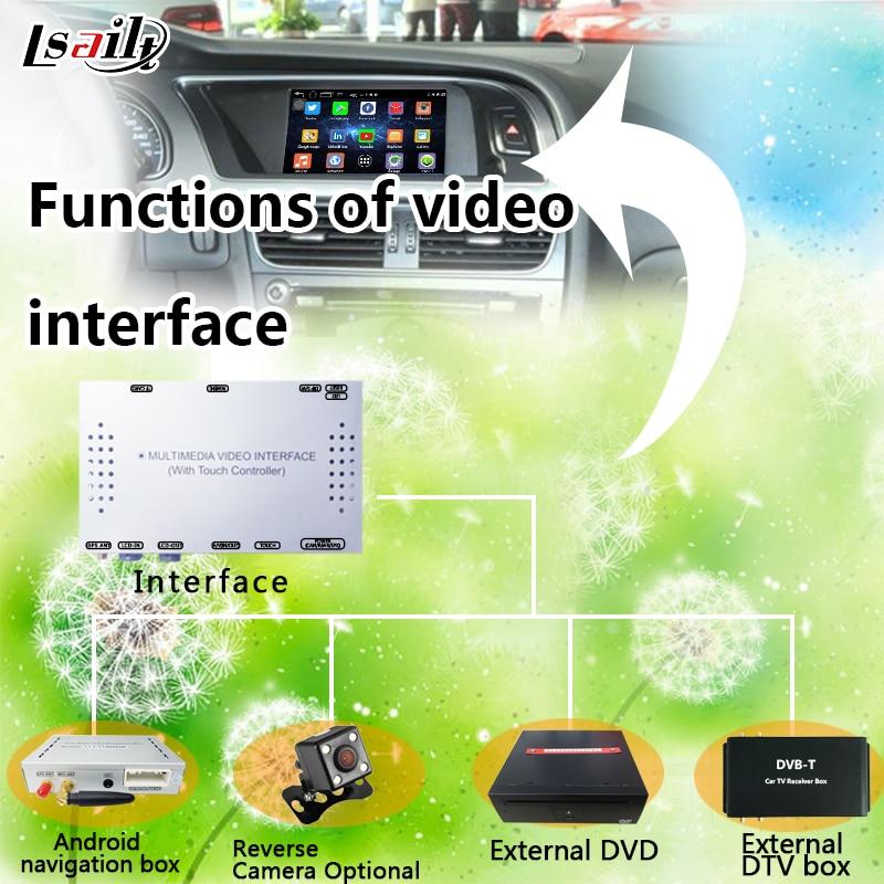 Multimedia Video Interface für 2009-2015 AUDI A4L/A5/Q5 unterstützung unterstützung Navigation, Rückfahrkamera, DVD, TV